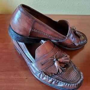 Bostonian Brown Leatger Tassel Loafers Size 9